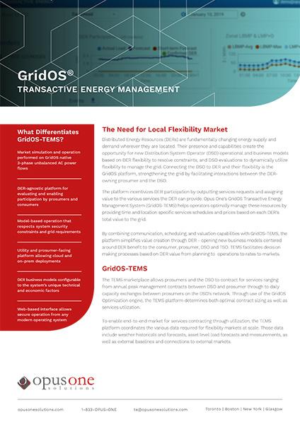 GridOS TEMS Fact Sheet